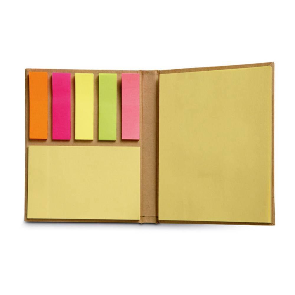 set notas adhesivas marcapaginas papel reciclado