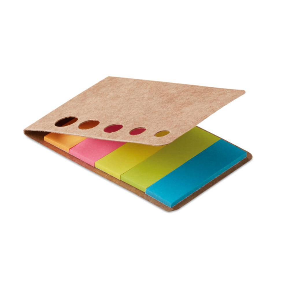 set notas ahesivas colores marcapaginas