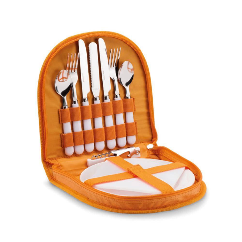 set picnic accesorios campo poliester