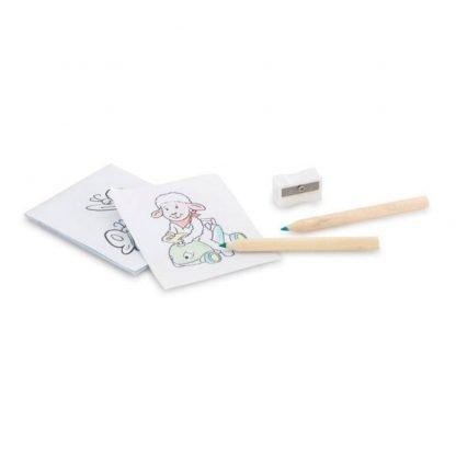 set pintura lapices plantillas sacapuntas infantil