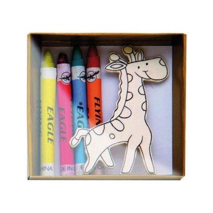 set pinturas animales colorear infantil