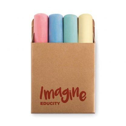 set tizas colores caja carton