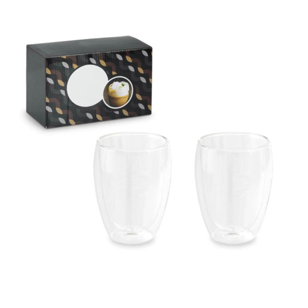 set vasos cristal doble pared ml diseno