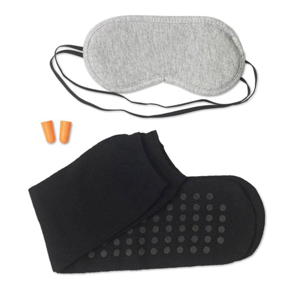 set viaje tapones antifaz calcetines