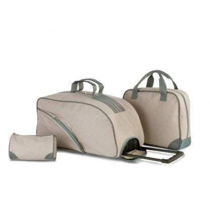 set viaje trolley maleta bolsa neceser