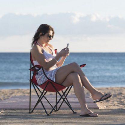 silla plegable playa rojo azul negro verde