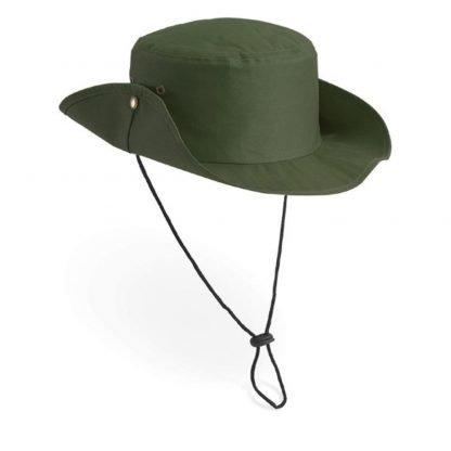 sombrero cordon ajustable verde beig