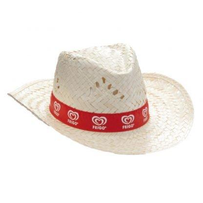 sombrero paja clara cinta color fiestas