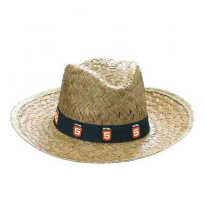 sombrero paja estilo clasico cinta bordada penas