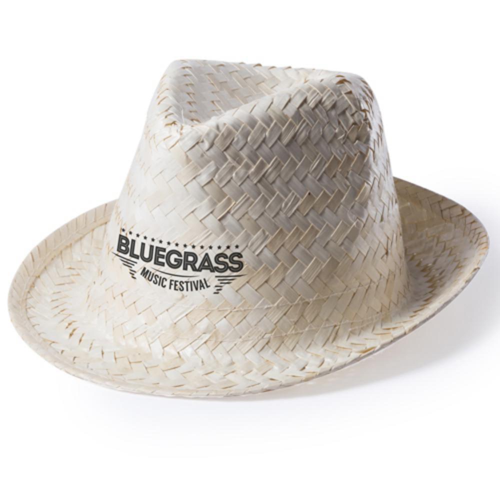 sombrero paja natural visera pequena unisex
