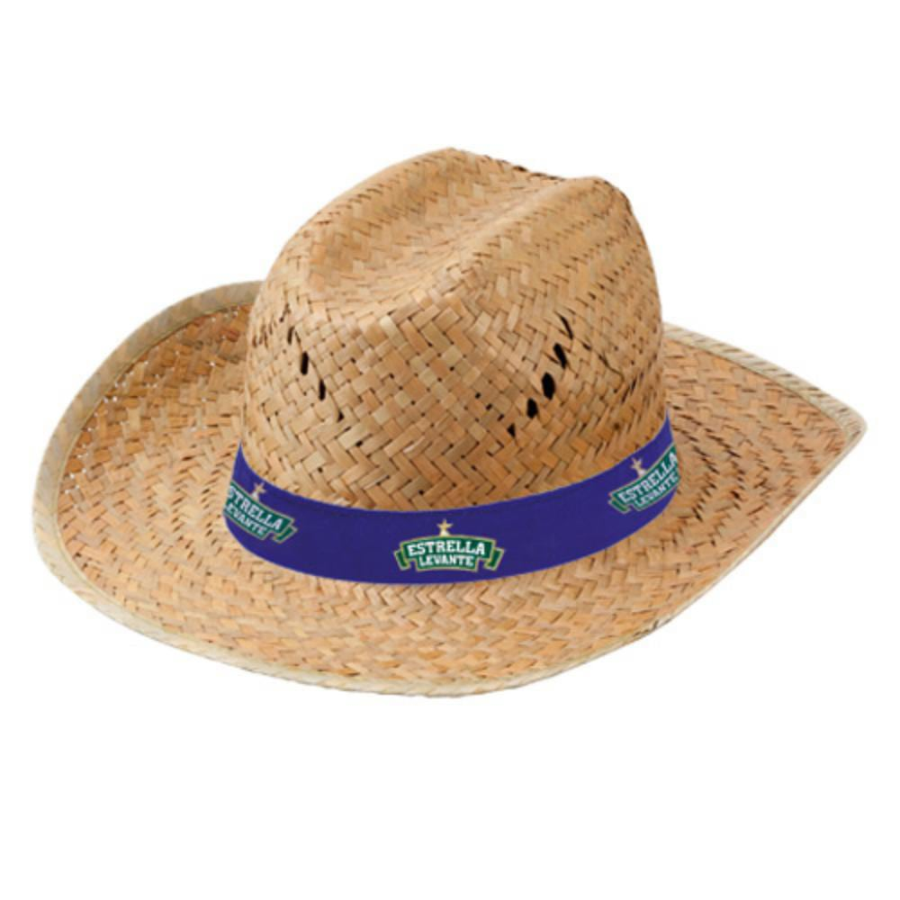 sombrero paja oscura cinta bordada color fiestas