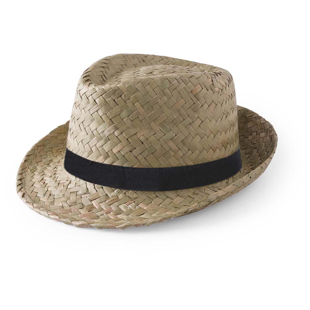 sombrero paja oscuro cinta grabada