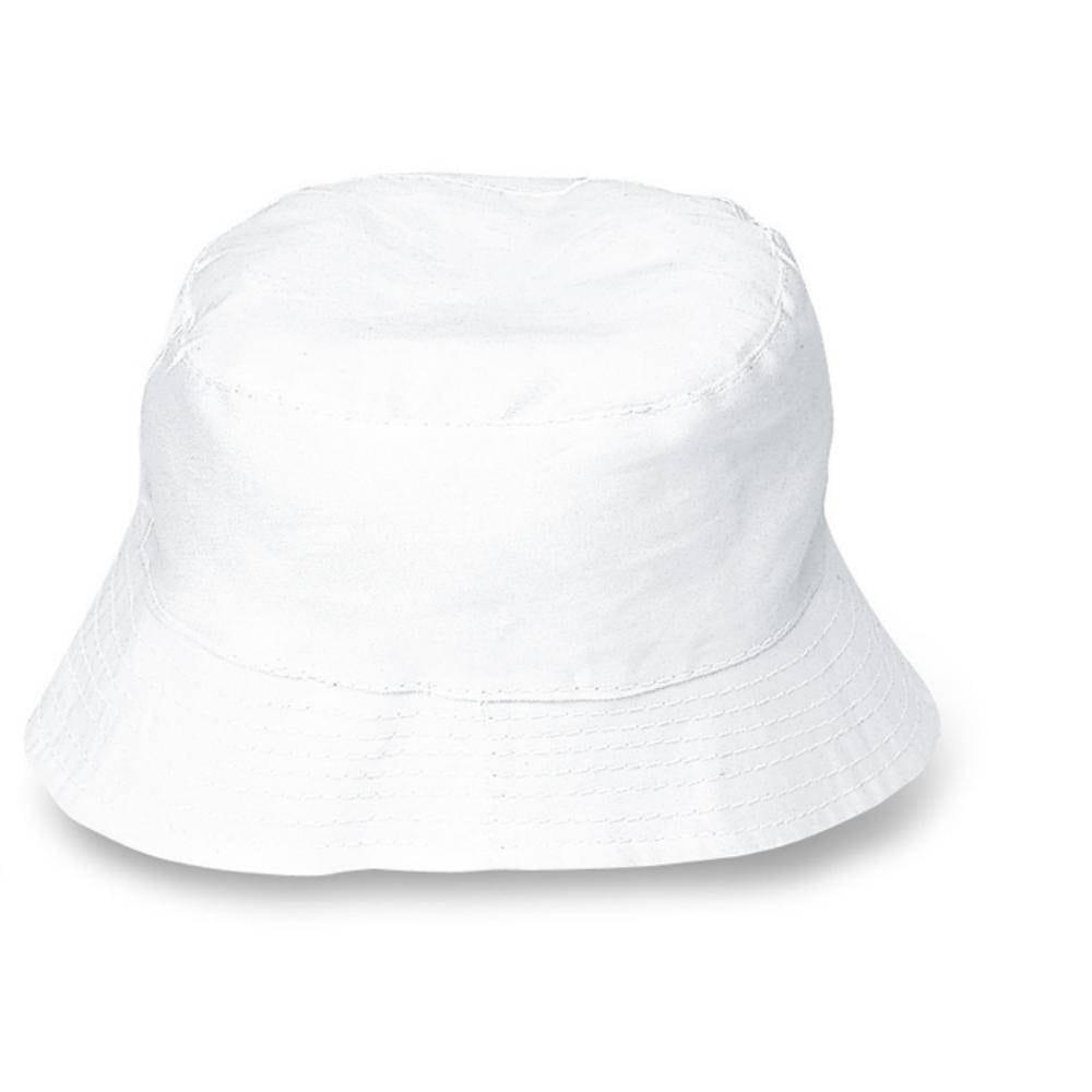 sombrero playa blanco algodón