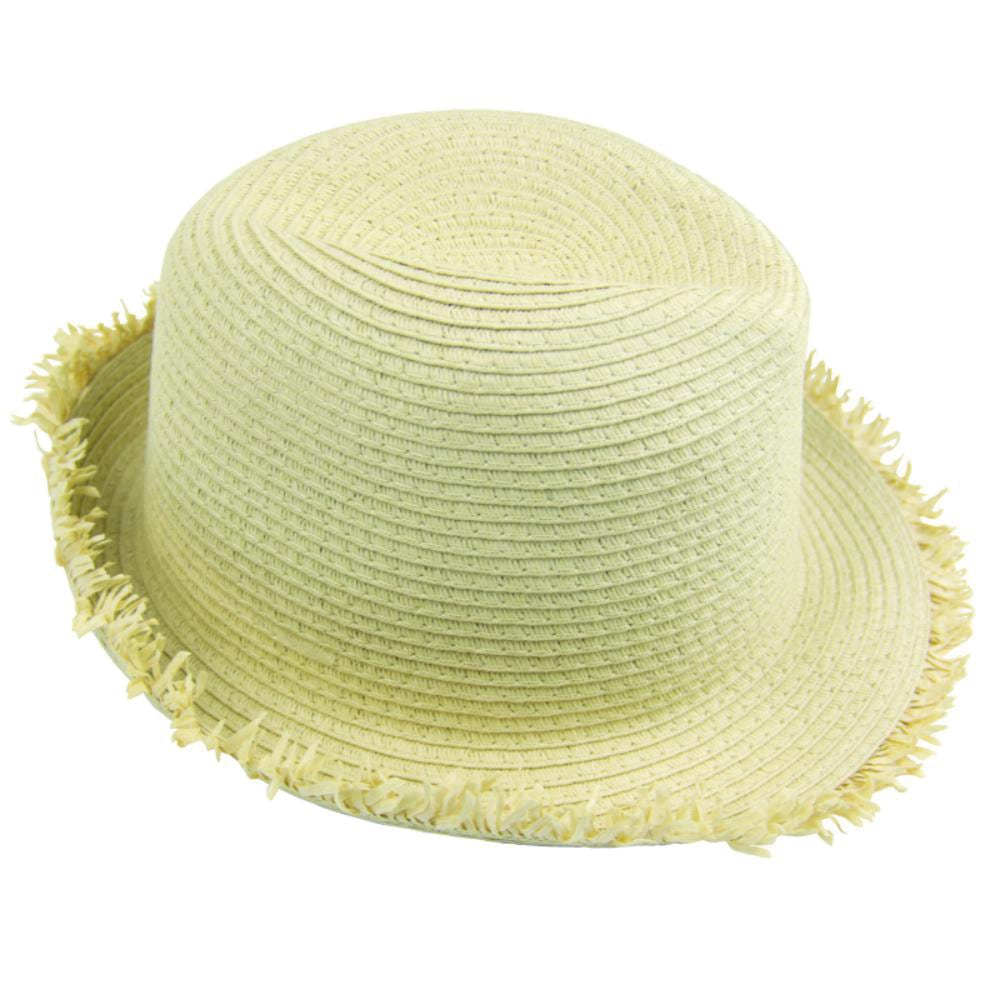 sombrero playa flexible acabado flecos