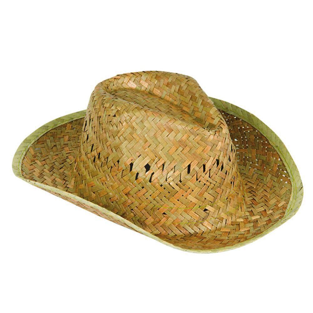 sombrero publicitario paja logo