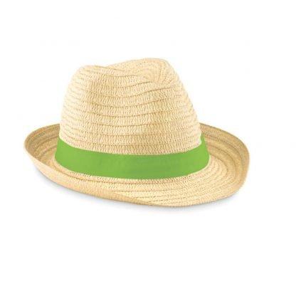 sombrero sol paja cinta poliester