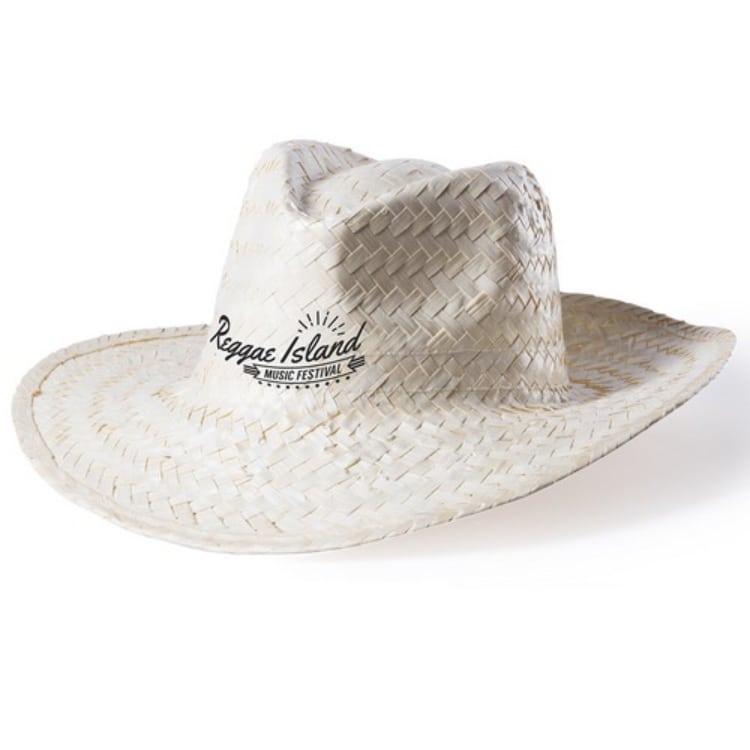 sombrero tipo cowboy paja clara unisex