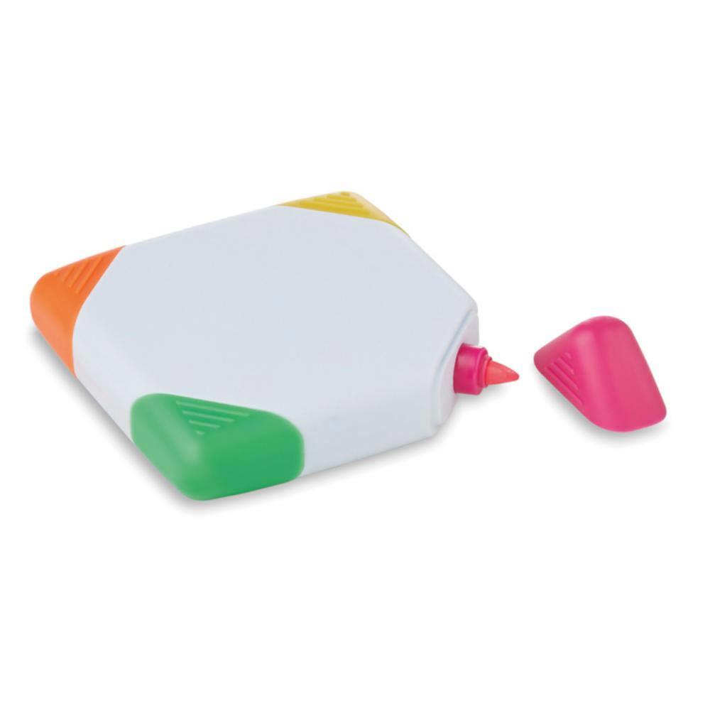 subrayador marcador fluorescente cuadrado