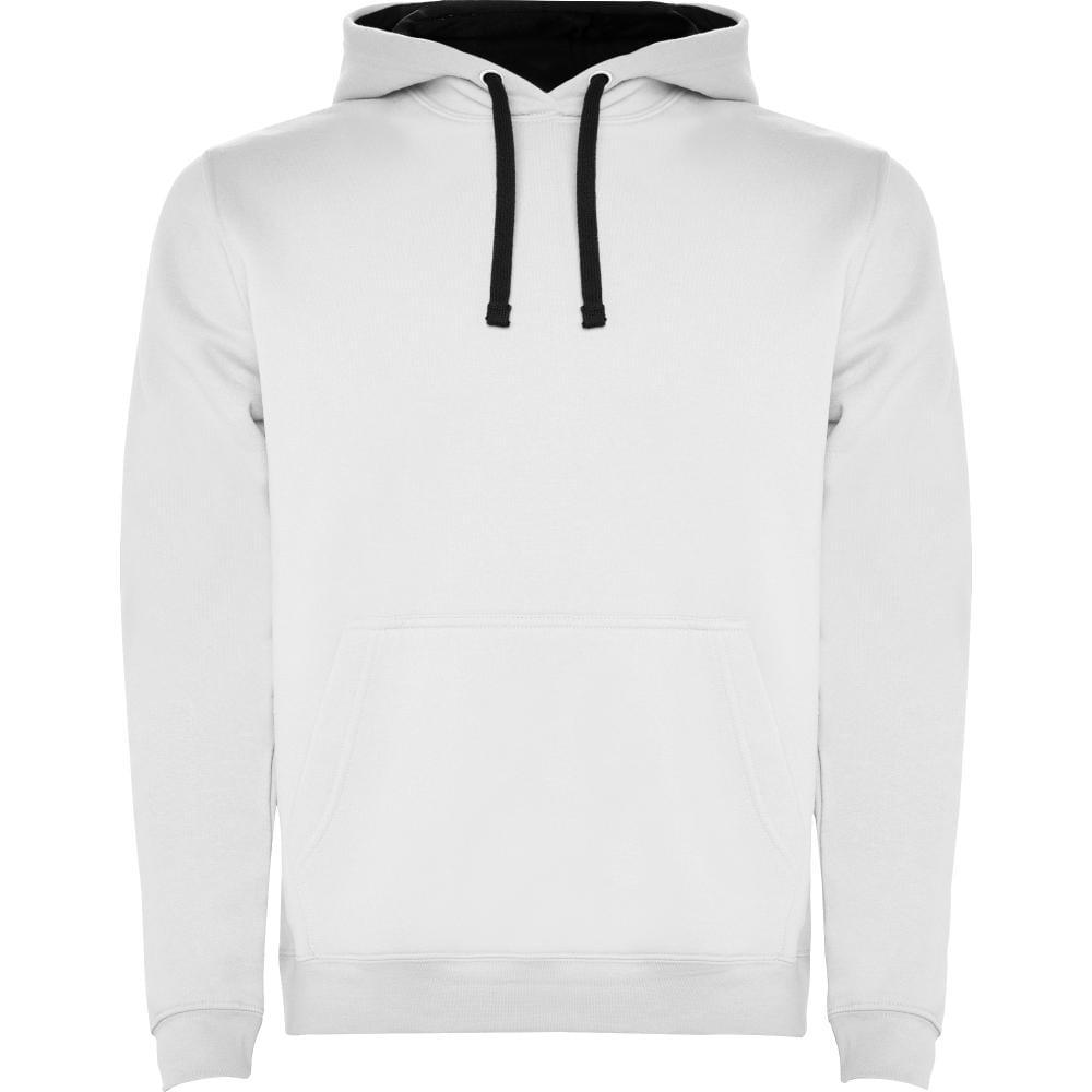 sudadera bicolor capucha ninos logo
