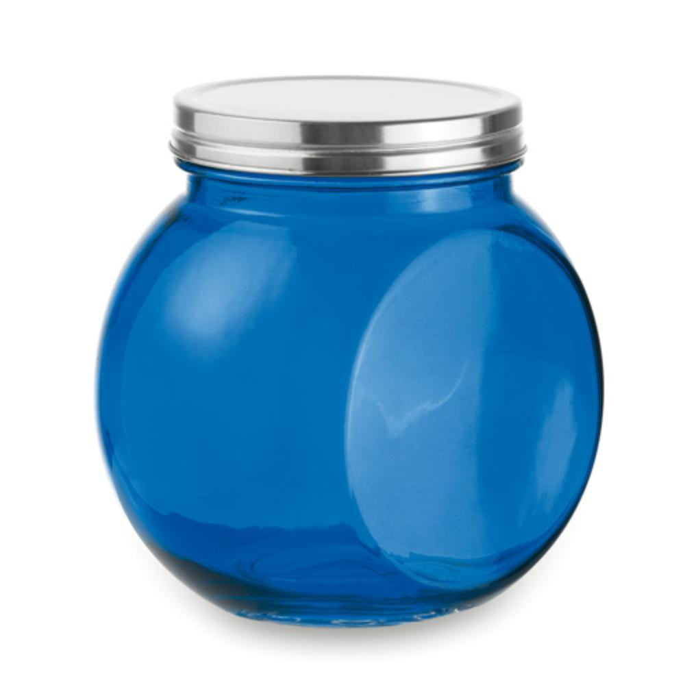 tarro cristal ml azul amarillo rojo cocina