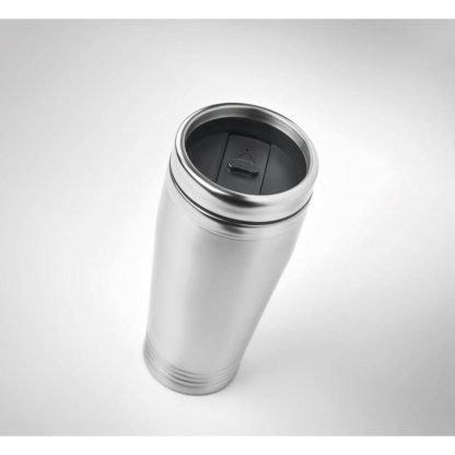 taza acero tapa negra termica