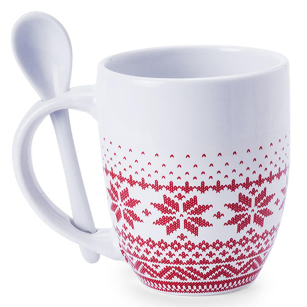 taza ceramica ml blanca motivos navidad mug