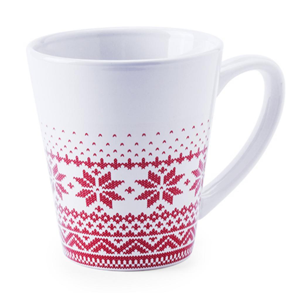 taza ceramica blanca motivos navidenos mug