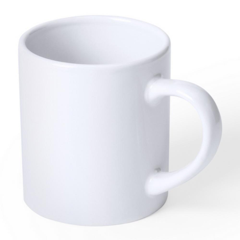 taza ceramica blanca pequena ninos
