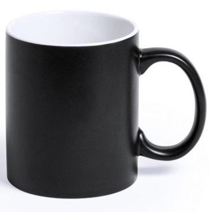 taza ceramica color logo laser