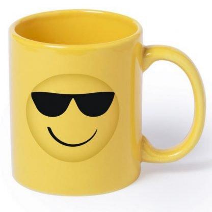 taza ceramica emoji ml amarilla