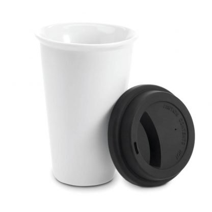 taza ceramica tapa silicona mug hogar