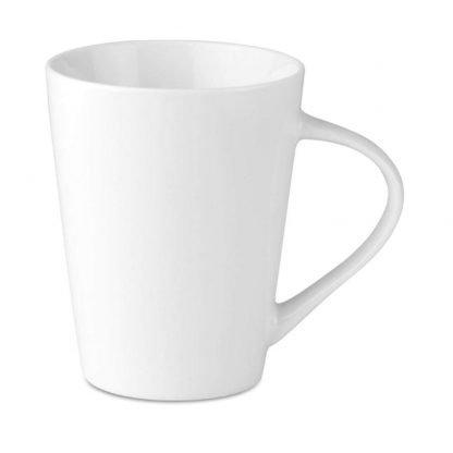 taza conica ceramica blanca ml hogar