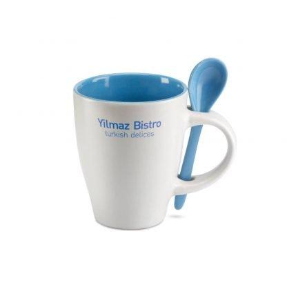 taza cuchara color ceramica ml
