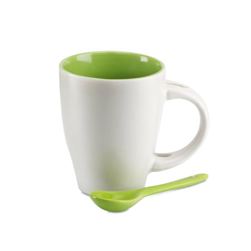 taza cuchara color ceramica ml
