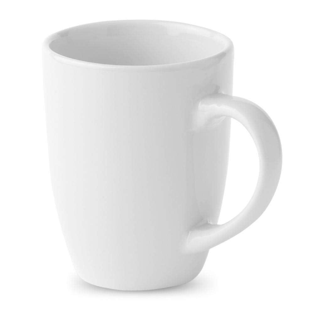 taza mug ceramica ml blanca hogar