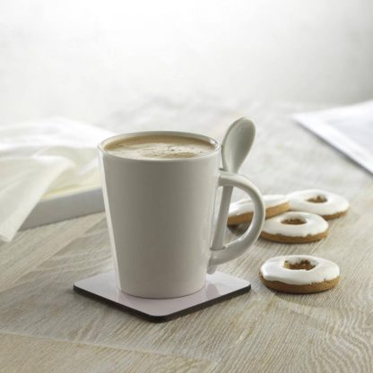 taza mug cuchara blanca sublimar ml