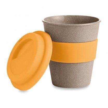 taza mug fibra bambu tapa silicona