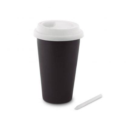 taza pizarra tapa silicona mug tiza