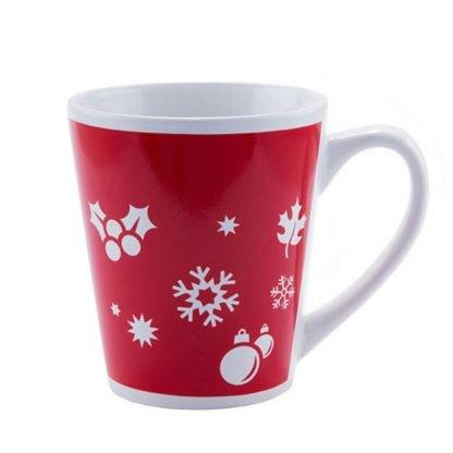 taza roja ceramica motivos navidad mug