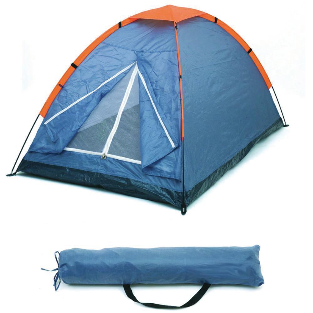 tienda campana camping promocional logo