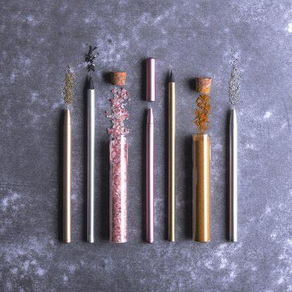 boligrafo tinta gel acabado metalizado diseno