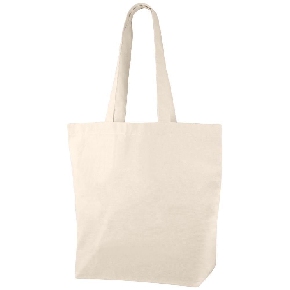 bolsa asas largas publicitaria algodon calidad logo
