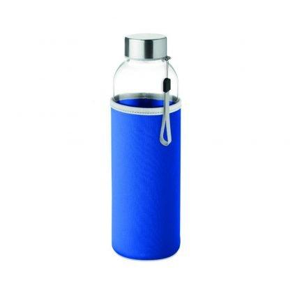 botella vidreo personalizada logo funda neopreno