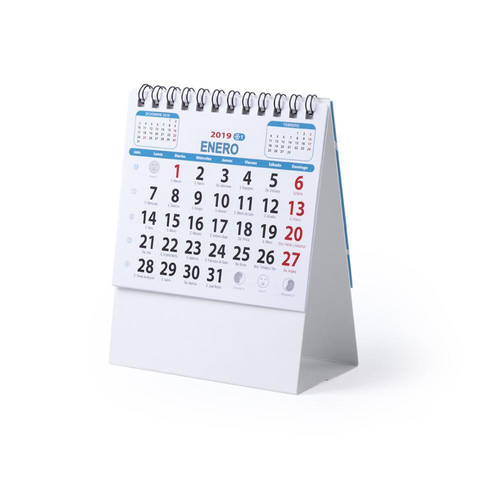 calendario sobremesa carton personalizado logo empresas