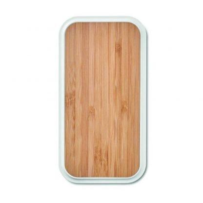 cargador inalambrico bambu puertos usb