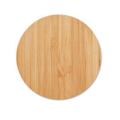 cargador inalambrico redondo bambu ecologico