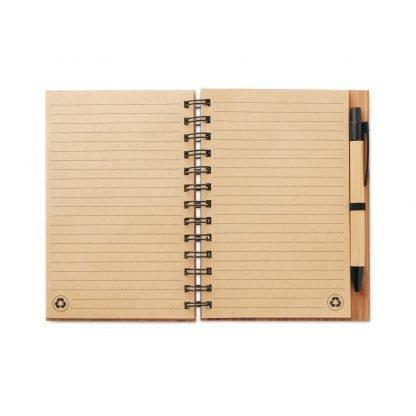 cuaderno bloc ecologico bambu reciclado boligrafo