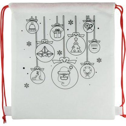 mochila cordones nonwoven regalo navida infantil