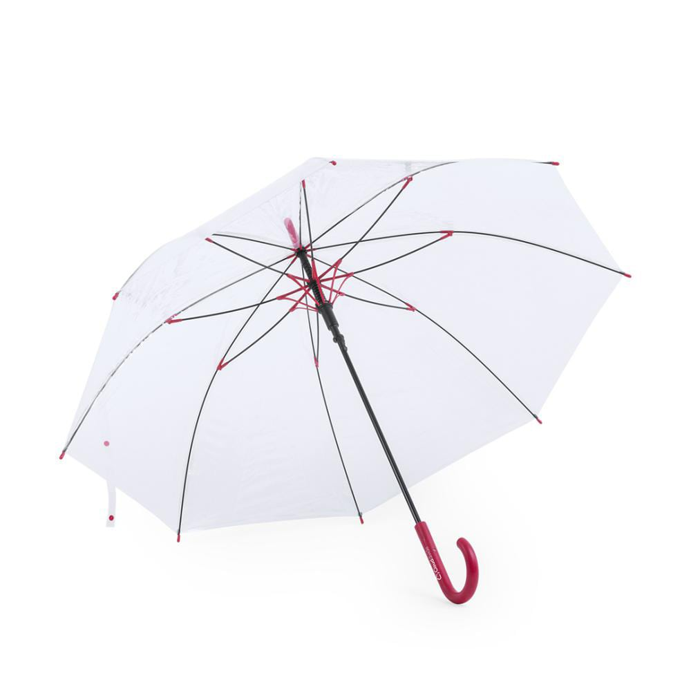 paraguas transparente antiviento personalizado logo