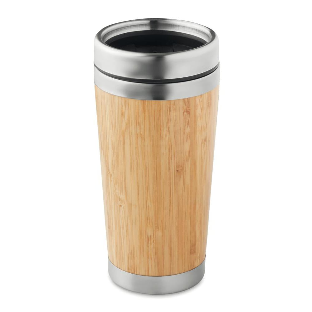 taza termo acero acabado bambu calidad ecologico